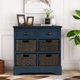 Longshore Tides Wachter 6 Drawers Accent Cabinet Wood in Blue, Size 28.0 H x 11.8 W x 15.0 D in   Wayfair 4B55794F67B04ABC9F03C084A2EECAF6