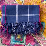 J. Crew Accessories | J. Crew Oversized Plaid Scarf Shawl Wrap | Color: Blue/Pink | Size: Os