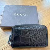 Gucci Accessories | Gucci Genuine Crocodile Card Case Wallet | Color: Black/Silver | Size: Os