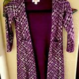 Lularoe Other | Girls Lularoo Pruple And Silver Duster | Color: Purple/Silver | Size: 8