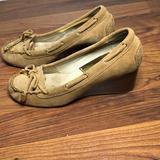 Michael Kors Shoes   Michael Kors Suede Loafer Moccasin Wedge Heels   Color: Tan   Size: 7