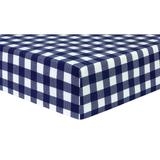 Trend Lab Buffalo Check Deluxe Flannel Fitted Crib Sheet, Multicolor