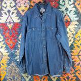 Carhartt Shirts | Carhartt Men Dark Wash Original Denim Button M Euc | Color: Blue | Size: M