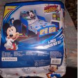 Disney Other | Kids 4 Piece Toddler Bed Set | Color: Blue/White | Size: Osbb