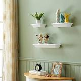 Alcott Hill® Cantara 3 Piece Wall Shelf Set Wood/Plastic in White, Size 2.5 H x 20.0 W x 5.5 D in | Wayfair DA22C65A8A634947BFB14D98CF8DB5BD