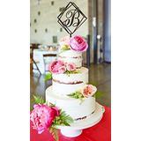 Delia32Agnes B Cake Topper Gold Wedding Cake Topper Cake Toppers for Wedding Initial Cake Topper B Geometric Wedding Cake Topper Wood Hexagon Cake Topper