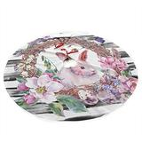 Easter Bunny Eggs Spring Floral Butterfly Easter Holiday Christmas Tree Skirt - 36 inches Tree Skirt Holiday Decorations for Christmas Xmas Ornaments