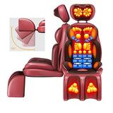 Shiatsu Massage Chair Pad Acupressure Therapy Back Massager Cushion with Heat (Back& Neck) & Vibrating (Seat) Functions for Home Office- Excellent Gift for Family