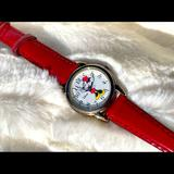 Disney Accessories | Disney, Minnie Mouse, White Face Watch, Red Strap | Color: Red/White | Size: 6 Circumference At Last Hole