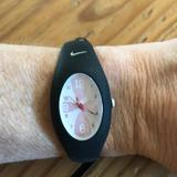 Nike Accessories | Nike Sport Watch Black With Pink Swirl Design Face | Color: Black/Pink | Size: Os