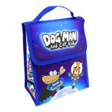 MerryMakers Lunch Bags and Lunch Boxes Multi - Dog Man and Cat Kid Blue & White Insulated Lunch Bag
