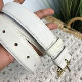Coach Accessories | Coach Classic White Belt 3485 Cm | Color: White | Size: Os