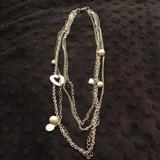 American Eagle Outfitters Jewelry | American Eagle Silver Multi-Strand Chain | Color: Silver | Size: 24 Inch