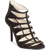 Michael Kors Shoes | Michael Kors Marvis Embellished Suede Heel Sandal | Color: Black | Size: 8