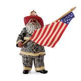 Department 56 Possible Dreams Jim Shore Santa Tribute to 9/11 African American Figurine, 11 Inch, Multicolor