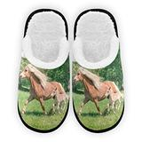 Running Horses Womens Slippers Women Slippers Cozy Plush Home Slippers Indoor Outdoor