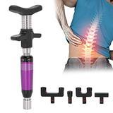 Chiropractic Massager, Muscle Massager Massage Gun Massage Machine Spinal Massager with 4 Heads, Portable Spine Adjustment Kit Therapy Back Massage Tool