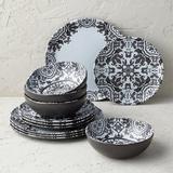Elena Melamine 12-piece Dinnerware Set - Frontgate