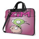 Invader Zim Laptop Bag for Waterproof Lightweight Leather Computer Tote Bag Office Briefcase Large Capacity Handbag Shoulder Bag 14 Inch