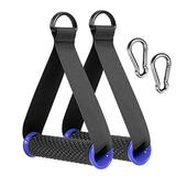 2pcs Heavy Duty Band Handles with Strong Carabiners,Upgraded Resistance Band Handle,Replacement Fitness Equipment for Pilates,Yoga,Strength Trainer (Blue)