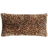 Christian Siriano NY Tahiti Cheetah Fur Bolster Pillow