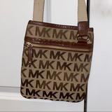 Michael Kors Bags | Michael Kors Brown Crossbody Purse | Color: Brown/Tan | Size: Os