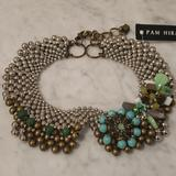 Anthropologie Jewelry | Anthropologie Pam Hiran Bead Collar Necklace | Color: Green/Silver | Size: Os