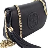 Gucci Bags | Gucci Soho Chain Crossbody Black Leather Bag Nwot | Color: Black/Gold | Size: Os