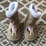 Disney Shoes | Disney Junior Minnie Toddler Boots | Color: Pink/Tan | Size: 7bb