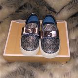 Michael Kors Shoes   Little Girls Mciheal Kors Loafers   Color: Blue/Silver   Size: 8g