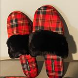 Victoria's Secret Shoes   Nwt Vs Slippers W Satin Tote   Color: Black/Red   Size: Large