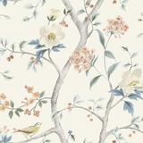 Chinoiserie Floral Wallpaper Sky Blue - Ballard Designs