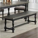 Canora Grey Lily Bench Solid + Manufactured Wood/Wood in Gray/Black, Size 17.75 H x 60.0 W x 16.0 D in | Wayfair 6883F84EC94441DC8CEFA7FEED113836