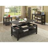 Canora Grey Davisson Lift Top Coffee Table w/ Storage Wood in Black/Brown, Size 21.0 H x 50.0 W x 28.0 D in   Wayfair