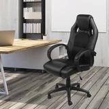 Inbox Zero Gaming Chair Faux Leather in Black, Size 47.7 H x 27.6 W x 24.9 D in | Wayfair E7A87DD83ADD4B9CA6B1030DD6587FE8