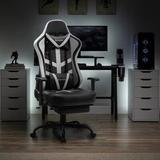 Wanbao Racing Gaming Chair Faux Leather in White, Size 52.0 H x 26.8 W x 26.8 D in   Wayfair 8352-WHITE