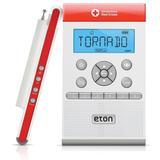 Eton Zoneguard Weather Radio in Red/White, Size 2.5 H x 8.2 W x 8.2 D in | Wayfair ETNZONEGUARD