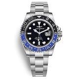 Time Warrior GMT Navy Seal Swiss Men's GMT Watch Black Dial, 316L CASE - Ceramic Bezel, Swiss Quartz Movement, Men's Watch Pro Diver Watch, Sapphire Glass (Black and Blue)