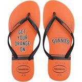 """Women's Havaianas San Francisco Giants Logo Flip-Flops"""