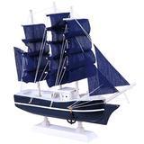 BESPORTBLE Sailing Ship Model Decor Wooden Miniature Sailing Boat Sailboat Model Vintage Nautical Sail Ship Marine Coastal Tabletop Ornament Educational Toy for Home Dollhouse Decor