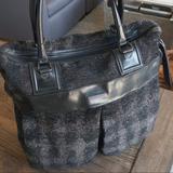 Burberry Bags | Mens Burberry Wool Runway Tote Duffel Bag | Color: Black/Gray | Size: Os