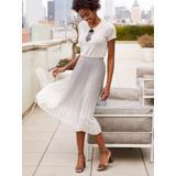 J.McLaughlin Women's Eileen Skirt in Dip Dye Pearl Grey/White, Size Extra Small