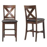 Alexa Counter Height Side Chair Set in Cherry - Picket House Furnishings DAX100CSC