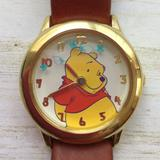Disney Accessories | Disney Sii Seiko Winnie The Pooh Watch Rotating Bu | Color: Brown/Gold | Size: Os