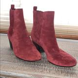 Nine West Shoes   Nine West Suede Ankle Boot   Color: Red   Size: 7.5