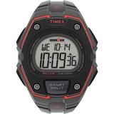 Timex Men's IRONMAN Classic 30 Oversized 43mm Resin Strap Watch – Dark Gray Case Black Top Ring with Black Resin Strap