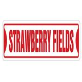 SignMission Strawberry Fields Street Sign New Sign Music UK Song Plastic in Red, Size 4.0 H x 18.0 W x 0.2 D in   Wayfair SS-Strawberry Fields