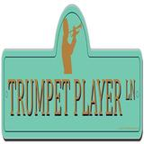 SignMission Trumpet Player Street Sign Funny Home Decor Plastic in Green/Orange, Size 12.0 H x 18.0 W x 0.1 D in | Wayfair P-618 Trumpet Player