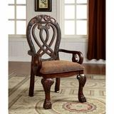 Astoria Grand Barrymore Upholstered Arm Chair Wood/Upholstered in Brown, Size 45.0 H x 27.5 W x 27.75 D in | Wayfair ARGD5867 44337171