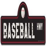 SignMission Baseball Street Sign Plastic in Black/White, Size 6.0 H x 18.0 W x 0.1 D in | Wayfair P-618 Baseball